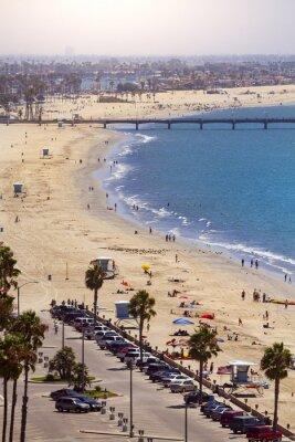 Fototapeta Molo w Long Beach, Los Angeles, Kalifornia