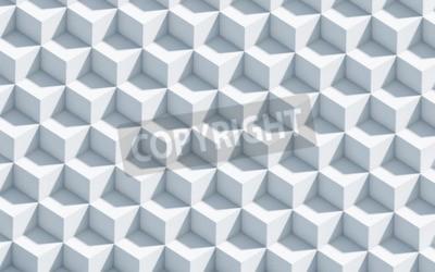 Fototapeta Monochromatyczne tło z 3d kostki, sztuka, pojęcie, tło