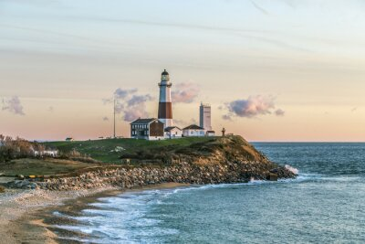 Fototapeta Montauk Point Light, Lighthouse, Long Island, Nowy Jork, Suffolk