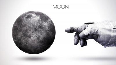 Fototapeta Moon - Wysoka rozdzielczość układu słonecznego najwyższej jakości planety. Wszystkie planety dostępne. Ten obraz elementy dostarczone przez NASA
