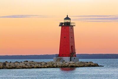 Fototapeta Morning at Manistique Lighthouse