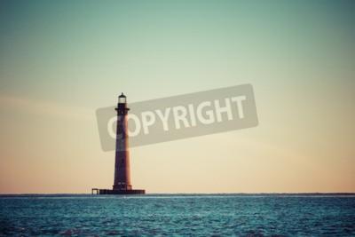 Fototapeta Morris Island Lighthouse o świcie, Karolina Południowa, USA
