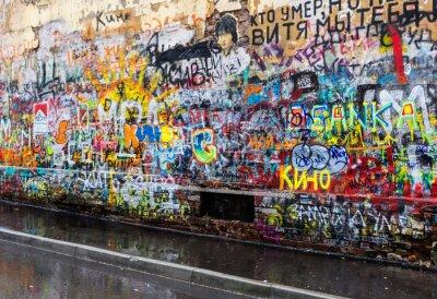 Fototapeta moskwa grafitti