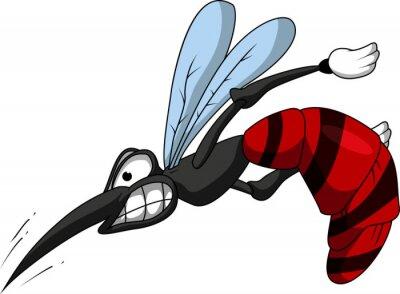 Fototapeta Mosquito cartoon zły