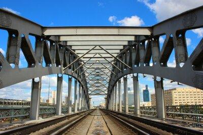 Fototapeta Most kolejowy w Moskwie