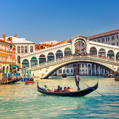 Fototapeta Most Rialto w Wenecji