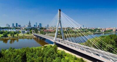 Fototapeta Most w Warszawie nad Wisłą