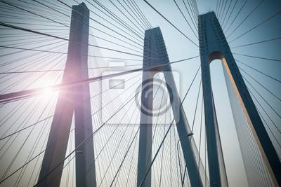 Fototapeta Most wisz? Cy mostu zbli? Enie
