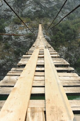 Fototapeta Most wiszący w kanionie