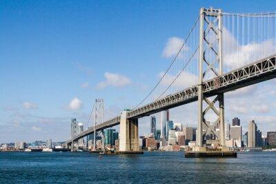 Fototapeta Most Zatoki Perskiej i panoramę San Francisco