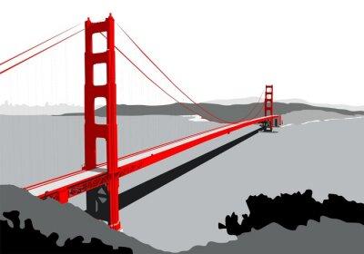 Fototapeta Most złotej bramy