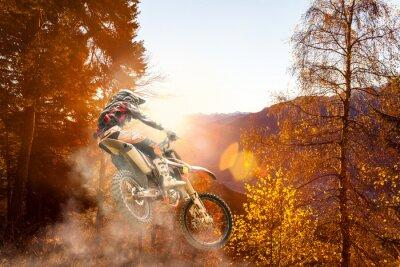 Fototapeta Motocross na zachodzie słońca
