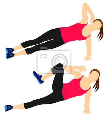 Motywacja ćwiczeń Fitness Fototapeta Fototapety Ramię Pilates