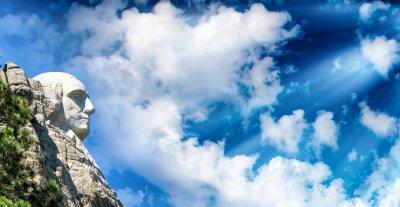 Fototapeta Mount Rushmore o zachodzie słońca, South Dakota - USA