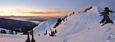 Fototapeta Mt. Seymour pierwsza pompa szczytowa zima sunrise, Vancouve