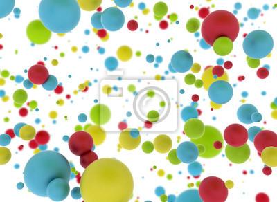 Fototapeta Multi color balls isolated on white background