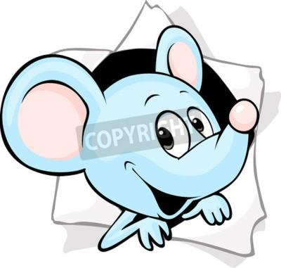 Fototapeta Mysz z otworem w gazecie