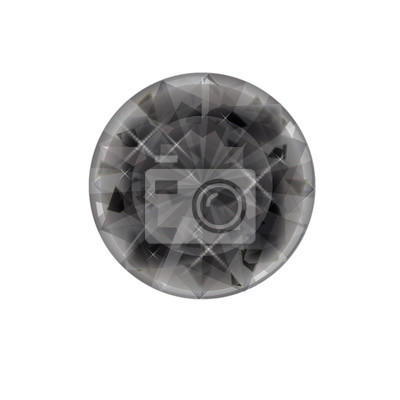 5001248099d144 Fototapeta Na białym tle klejnot płaski ikona na białym tle. symbol diamentu.  symbol kamień