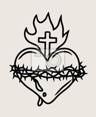 najswietsze-serce-pana-jezusa-projekt-sztuka-wektor-400-112763903