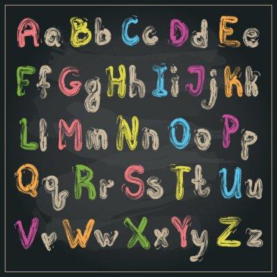 Fototapeta Napisane alfabetem szczotki