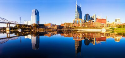 Fototapeta Nashvillle Skyline, Tennessee, Stany Zjednoczone