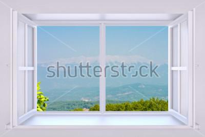 Fototapeta Natura za oknem 3d render z wstawionym zdjęciem