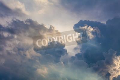 Fototapeta Naturalne tło nieba i chmury