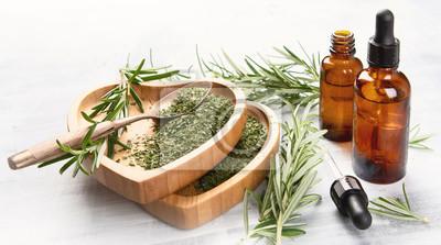 Fototapeta Naturalny olejek z rozmarynu