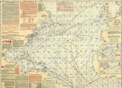 Fototapeta Nautical rocznika mapę