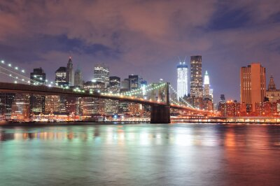 Fototapeta New York City Brooklyn Bridge