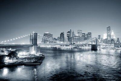 Fototapeta New York City Manhattan downtown czerni i bieli