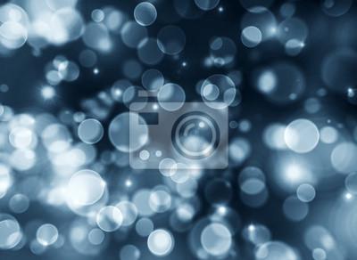Fototapeta Niebieski bokeh abstrakcyjna tła światła.