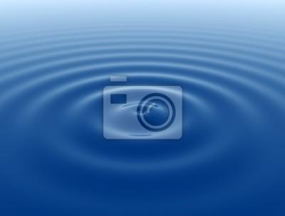 Fototapeta Niebieski gładkie fale wody
