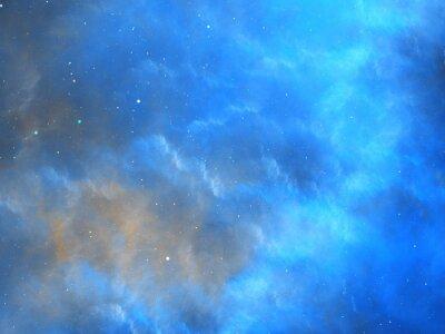 Fototapeta Niebieski świecące mgławica fraktali