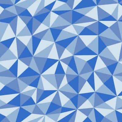 Fototapeta Niebieski Zmięty Papier Z Geometrycznych Bez szwu Deseń