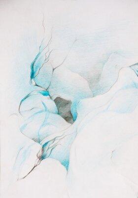 Fototapeta niebieskie farby