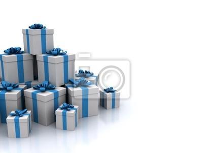 Fototapeta Niebieskie pudełka