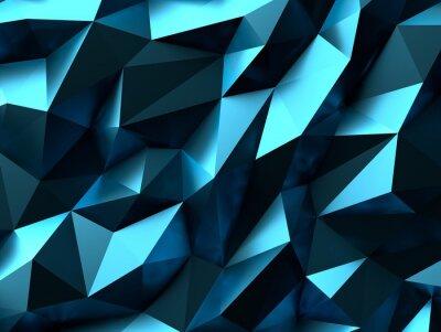 Fototapeta Niebieskie tło Low Poly