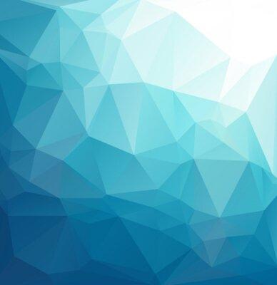 Fototapeta Niebieskie tło mozaiki wielokątne, pień Szablony projektów