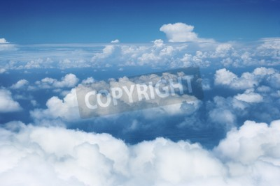 Fototapeta Niebo i chmury z lecącego samolotu