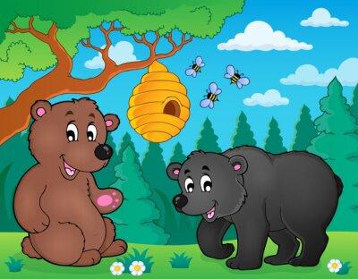 Fototapeta Niedźwiedzie w charakterze motywu obrazu 4