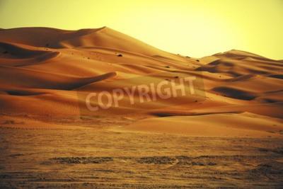Fototapeta Niesamowite formacje wydmy piaszczystej w oazie Liwa, w Zjednoczonych Emiratach Arabskich