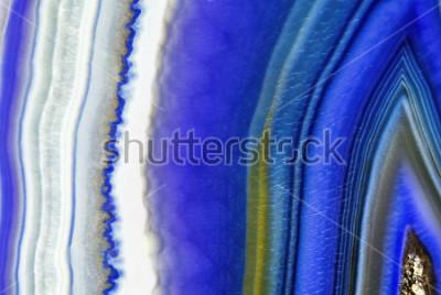Fototapeta Niesamowity przekrój poprzeczny Violet Agate Crystal. Naturalna półprzezroczysta agata kryształu powierzchnia, Purpurowy abstrakcjonistyczny struktura plasterka kopalnego kamienia makro- zbliżenie