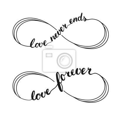 Fototapeta Nieskończoność Miłość Symbol Tatuaż Ze Znakiem Nieskończoności