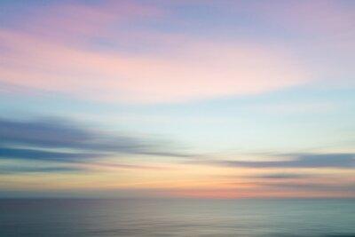 Fototapeta Niewyraźne nieostre słońca niebo i ocean tle przyrody.