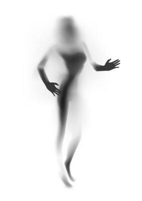 Fototapeta Niewyraźne sexy kobieta sylwetka, ręce. ilustracji wektorowych.