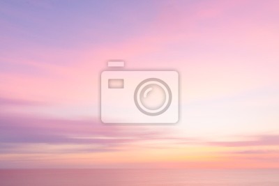 Fototapeta Niewyraźne zachód słońca niebo i ocean charakter tle