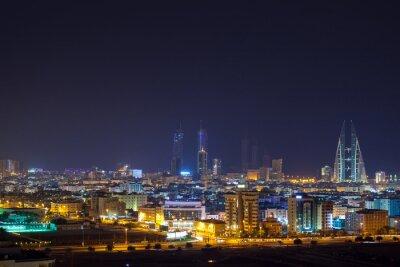 Fototapeta Noc skyline Manama, stolicy Bahrajnu