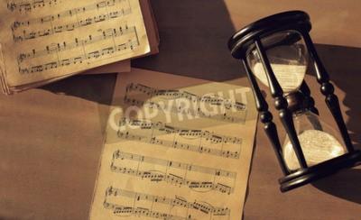 Fototapeta Notatki muzyczne na stole