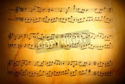 Fototapeta Notatki muzyki tła